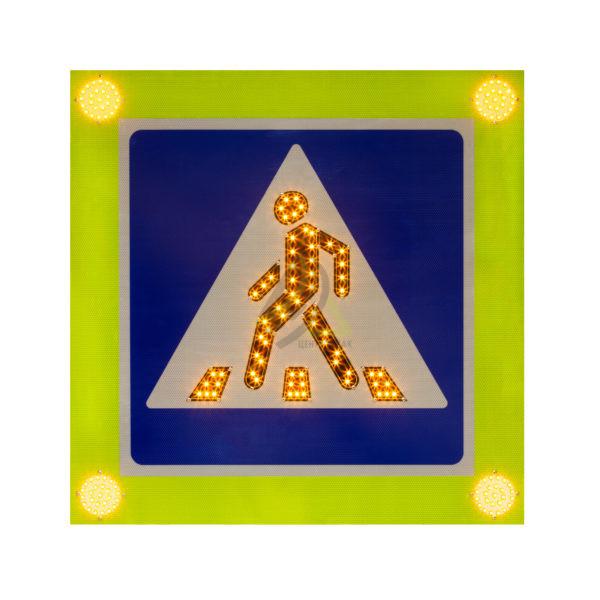 """Знак светодиодный 5.19.1-5.19.2 """"Пешеходный переход"""" Повышенной яркости"""