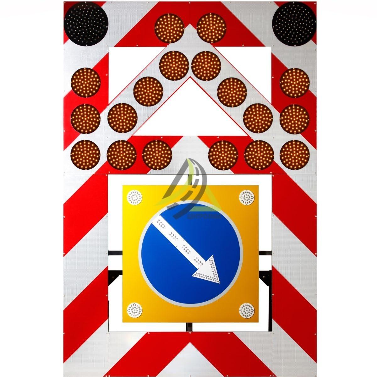 ЗИП Светодиодный передвижной заградительный знак (повышенной яркости)