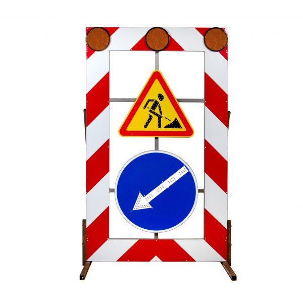 ЗИП Светодиодный передвижной заградительный знак 1.25 и 4.2.1-4.2.3 размер 1200x2000мм